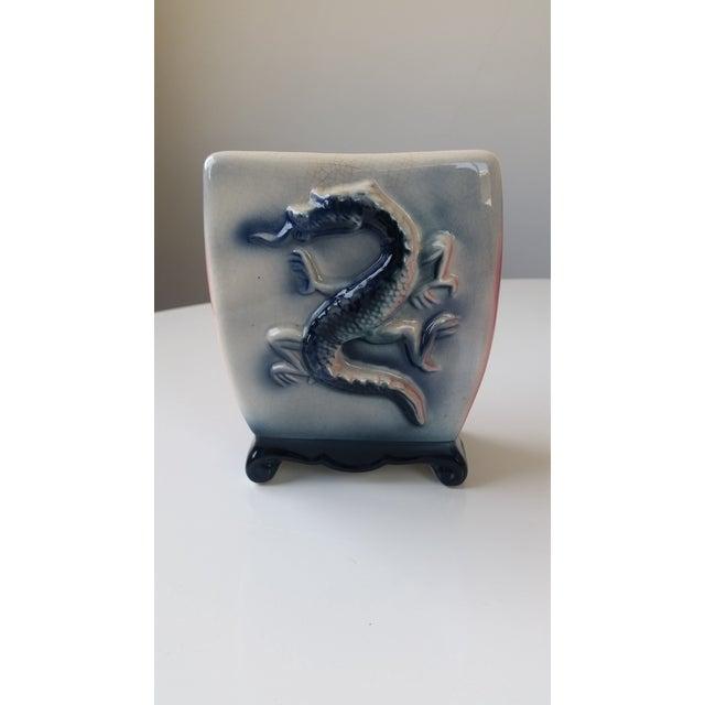 Mid-Century Ceramic Dragon Vase For Sale In San Francisco - Image 6 of 6