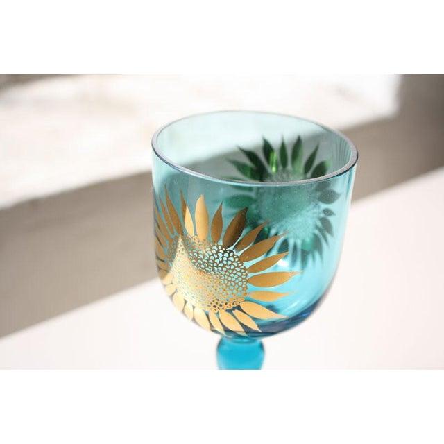 Vintage Sunflower Glasses - Set of 4 - Image 4 of 8