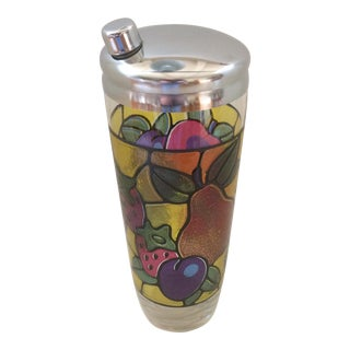 Vintage Mosaic 24 Oz. Fruit Pattern Cocktail Shaker