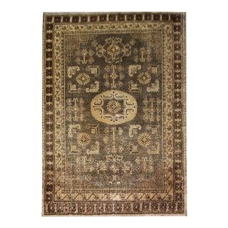 Vintage Hand Knotted Khotan Rug Circa 1900 - 4′3″ × 7′4″ For Sale