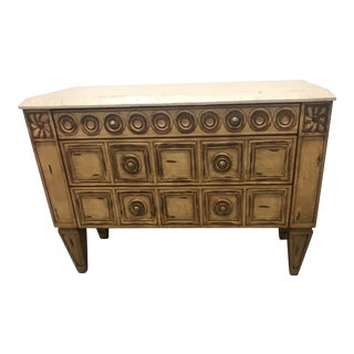 Italian Style Gold Leaf Commode For Sale