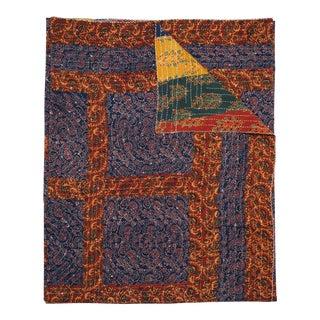 Squares 2 Patchwork Quilt, Queen - Multi-Color For Sale