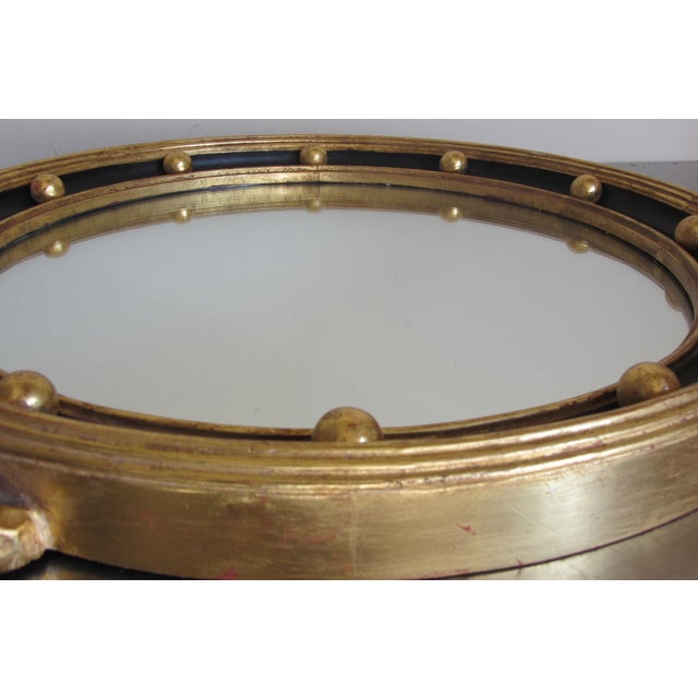 Hand Carved Gold Gilt Mirror With Eagle Crest For Sale In San Diego - Image 6 of 9