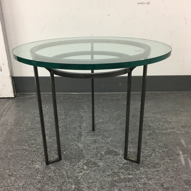 Iron Based Glass Top Side Table - Image 3 of 8