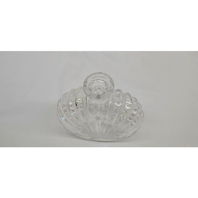 Art Deco Shell Design Glass Decanter For Sale - Image 3 of 5