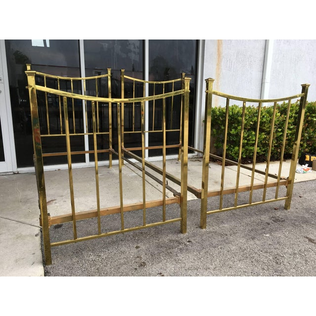 Art Deco Brass Twin Bed French Single, Circa 1930 For Sale - Image 9 of 10