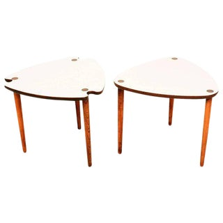 Mid-Century Modern Triangular Nesting Tables For Sale