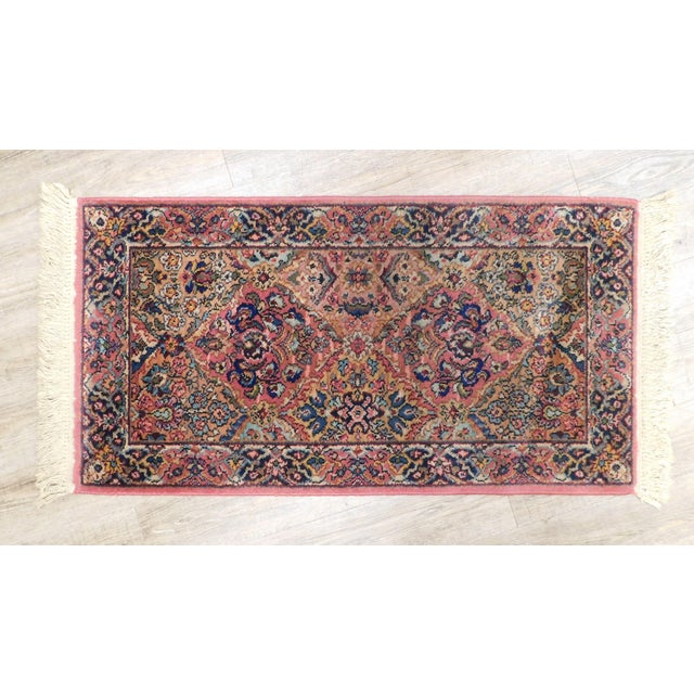 High Quality Kirman Rug by Karastan Two-Colorful Central Medallions Pattern 717 Labelled 351604 Store Item#: 25499