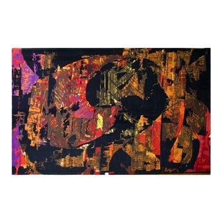 A Large Modernist Abstract Tapestry by Mathieu Mategot For Sale