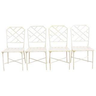 Brown Jordan Calcutta Faux Bamboo Garden Chairs For Sale