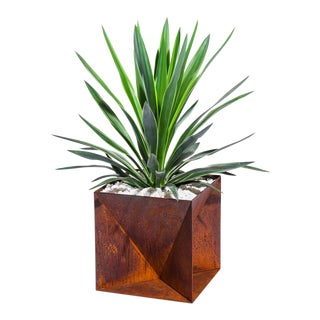 "Origami Planter - Weathering Steel 14"" For Sale"