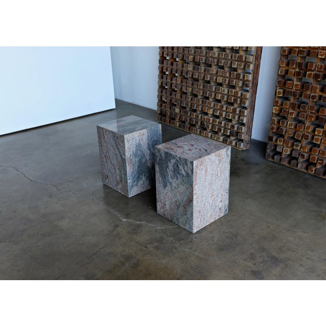 1980s Granite Stone Occasional Tables - a Pair For Sale - Image 10 of 11