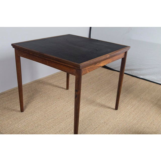 Rosewood Game Table & 4 Chairs For Sale In New York - Image 6 of 13