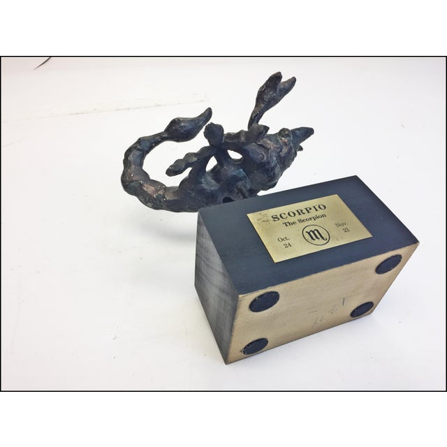 Mid Century Modern Brutalist Scorpio Sculpture For Sale - Image 11 of 13