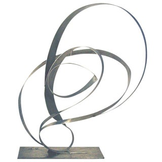 Abstract Stainless Steel Sculpture by Beverly Pepper, Usa 1970s For Sale
