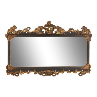 Late 19th/Early 20th Century. Baroque Style Parcel Gilt Mirror For Sale