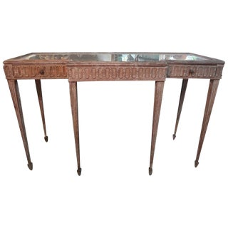 1920's French Louis XVI Style Neoclassical Console Table For Sale