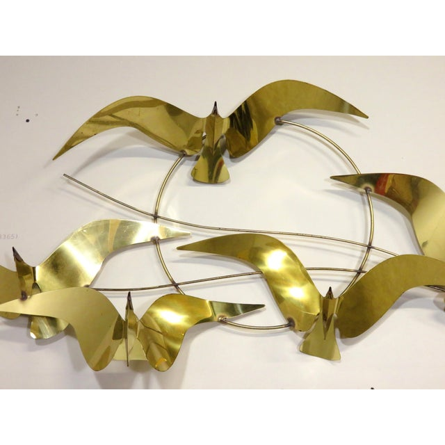 Curtis Jere Birds in Flight Brass Wall Art Sculpture | Chairish