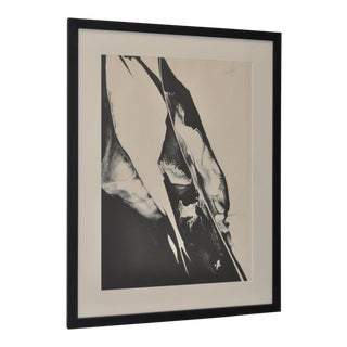 Paul Jenkins (American 1923-2012) Black & White Abstract Lithograph C.1967 For Sale