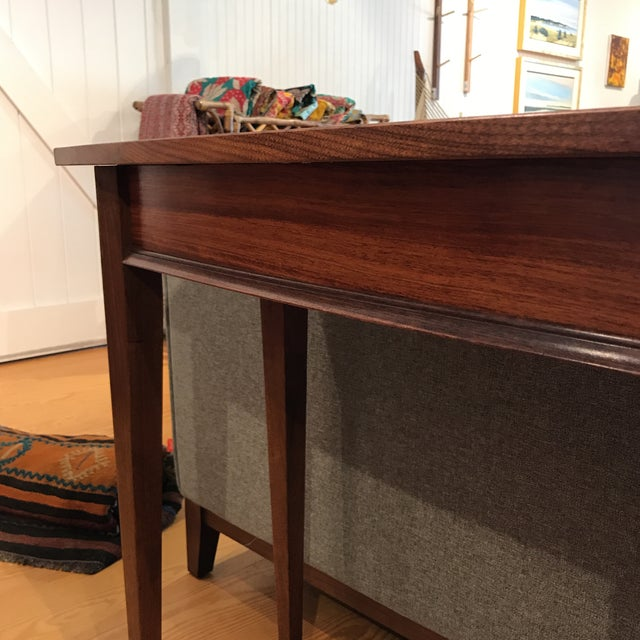 Handcrafted Walnut Curved Console Table For Sale - Image 12 of 13