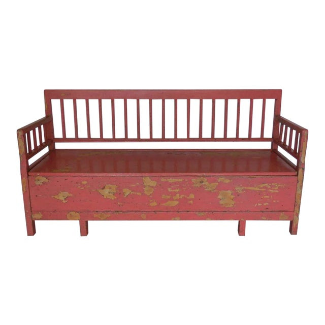 19th Century Painted Swedish Bench/Daybed For Sale