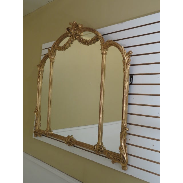 Glass 1990s Labarge Gold Gilt Mantle or Sideboard Horizontal Mirror For Sale - Image 7 of 12