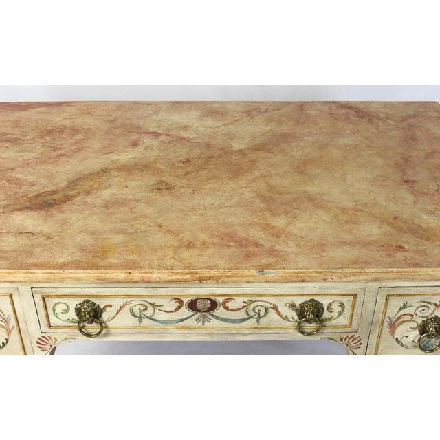 Neoclassical Style Painted Dressing Table or Desk For Sale - Image 11 of 13