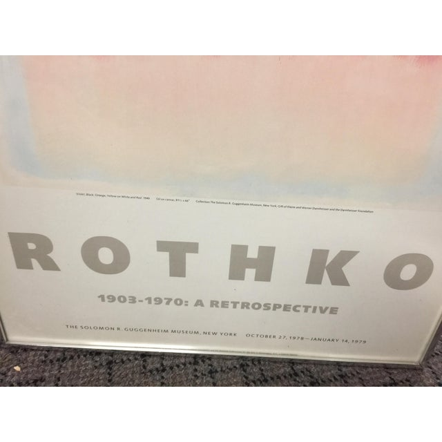 Abstract 1978 Rothko Guggenheim Museum Poster For Sale - Image 3 of 5