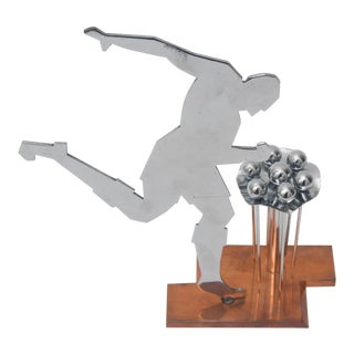 Art Deco Stylized Soccer Player Cocktail Picks For Sale