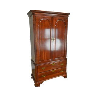 Ethan Allen Georgian Court Cherry Armoire Gentlemans Cabinet For Sale