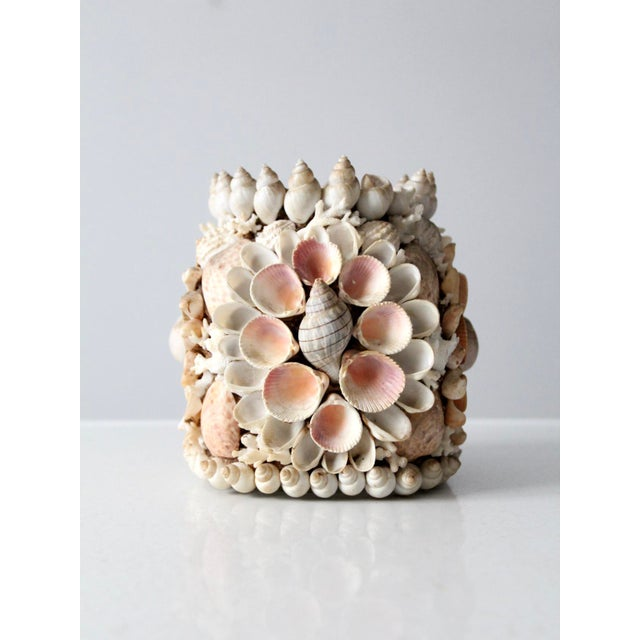 Vintage Seashell Vase For Sale - Image 12 of 12