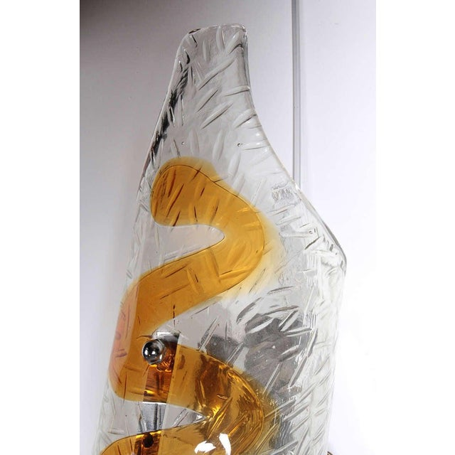 Glass 1970s Murano Glass Sconces - A Pair For Sale - Image 7 of 8