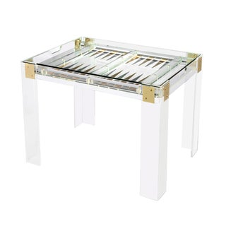 Interlude Home Pierre Acrylic Backgammon Table For Sale