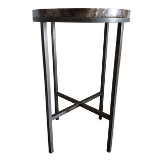 Contemporary Baker Architype Marble Top Side Table For Sale
