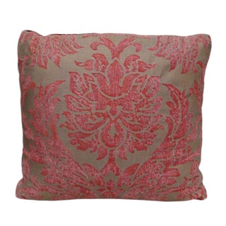 Gold & Rust Colored Fortuny Pillow