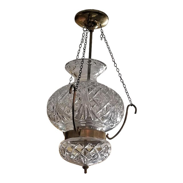 Mid Century Irish Waterford Crystal Traditional Style Chandelier For Sale