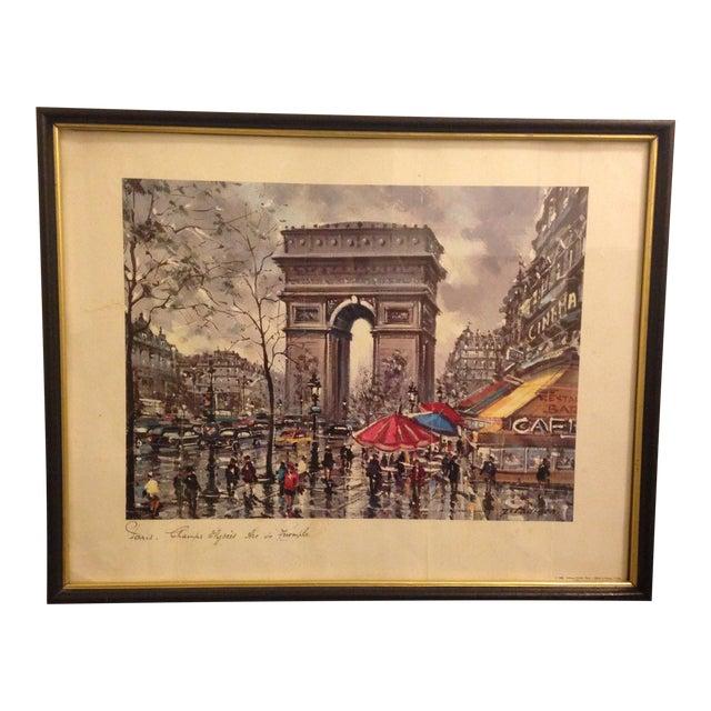 Vintage Framed April in Paris Print - Image 1 of 4