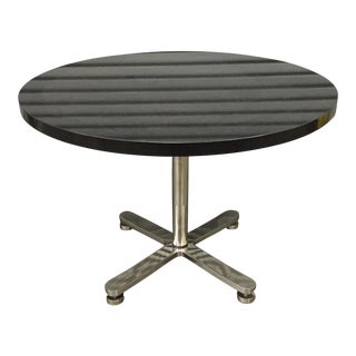 Brueton Custom Stainless Steel & Granite Table For Sale