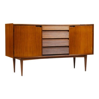 1960s Danish Modern Richard Hornby for Fyne Layde Mahogany Compact Credenza/Sideboard For Sale