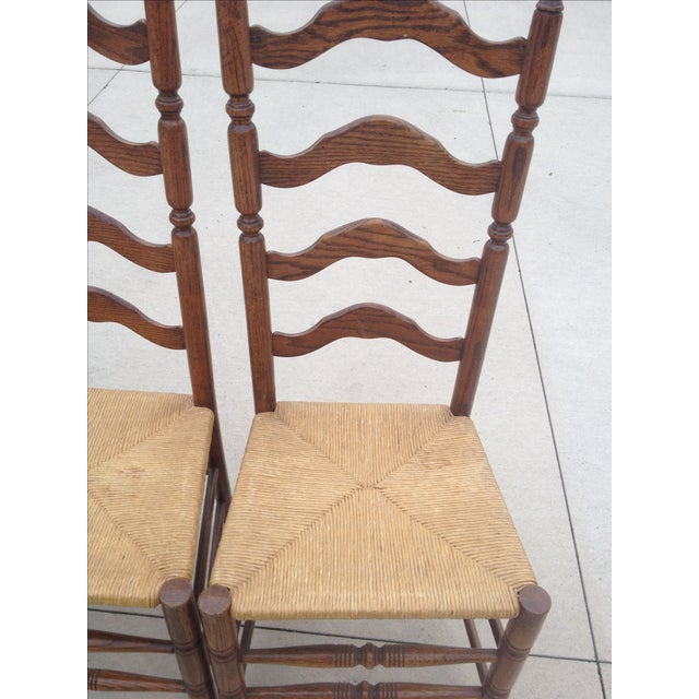 Vintage Tall Ladder Dining Chairs - Set of 4 - Image 6 of 10