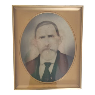 Vintage Black and White Portrait Framed For Sale