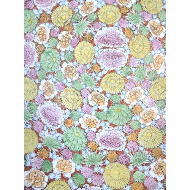 Asian Japanese' Kutani 1000 Chrysanthemum' Imperial Charger (Showa Era) For Sale - Image 3 of 10