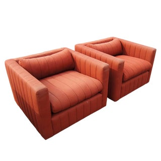 Pair of Nicos Zographos for Zographos Lounge Chairs For Sale