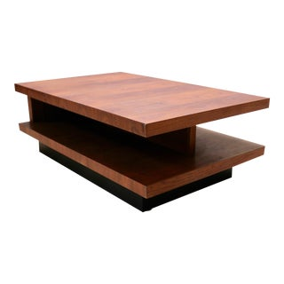Mid-Century Modern Martin Borenstein Walnut Sushi Side/Coffee Table - 2 Available For Sale