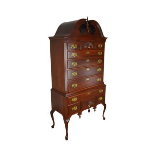 Traditional Queen Anne Style Solid Cherry Highboy For Sale