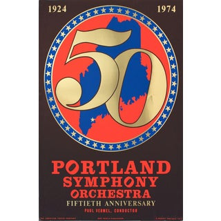 Robert Indiana Portland Symphony Orchestra 50th Anniversary 1974 Serigraph For Sale