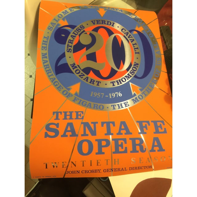 "1970s Robert Indiana X ""The Santa Fe Opera '20th Season'"" Foil Serigraph Poster For Sale - Image 5 of 6"