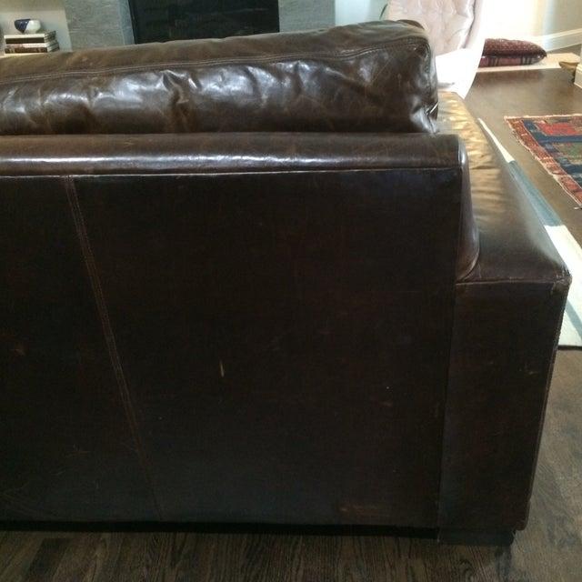 Restoration Hardware Leather Queen Sleeper Sofa - Image 9 of 11