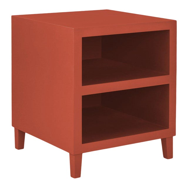 Elza End Table in Red For Sale
