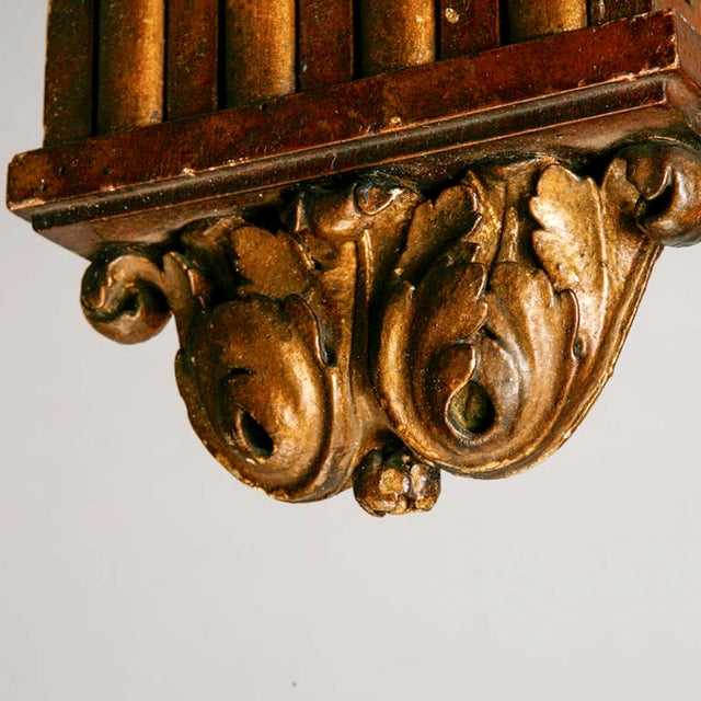 Large French Carved Wood and Gilded Corbel - Image 6 of 6